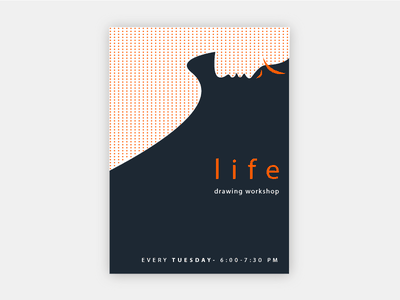 Life Drawing Poster Design  poster design typography graphicdesign graphic