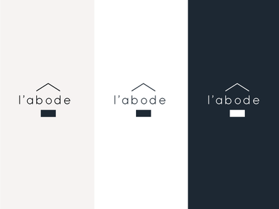 L'abode graphicdesign branding brand logo