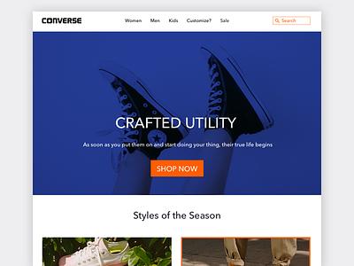 Converse Landing page ux ui website web product landingpage concept