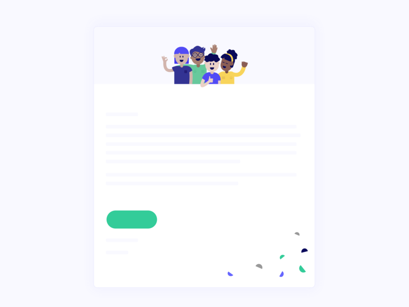 Putting personality into emails app graphic email banner ui vector ux website graphicdesign minimal icon logo sketch character branding design illustration