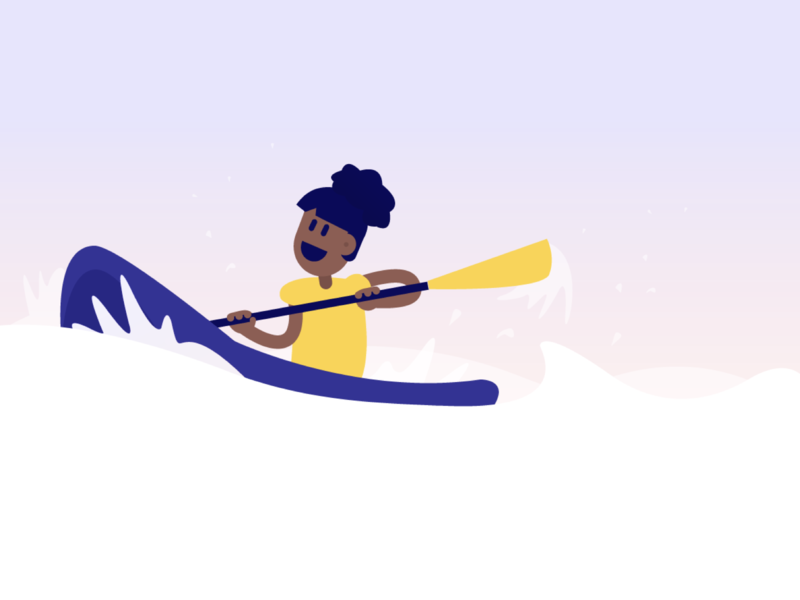 Like water sports? flat app vector gradient graphic website ui graphicdesign icon logo sketch character branding design illustration