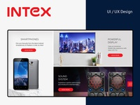 Intex e-commerce website redesign