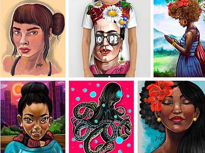 Procreate illustrations drawing digital commuteartist illustration