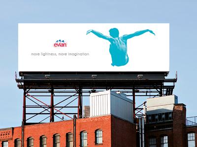 Evian water - Billboard