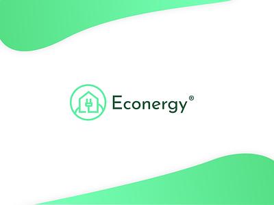 Econergy logo concept futuristic future greenery greener green eko ecologic ecology eco