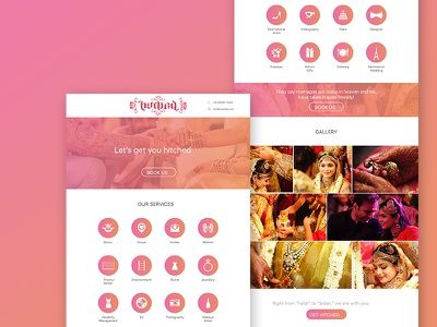 A Landing Page for Indian Wedding Planner planner wedding indian landing page