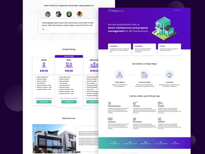 Landing Page for Home Maintenance Company