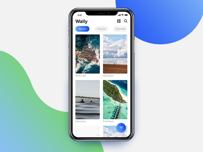 Wally - Wallpaper App Concept for iPhone X
