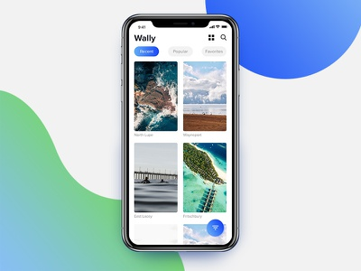 Wally - Wallpaper App Concept for iPhone X wallpaper wallpaper app iphone iphone x