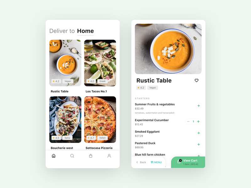 Food Ordering App mobile ui mobile app food ordering food app food