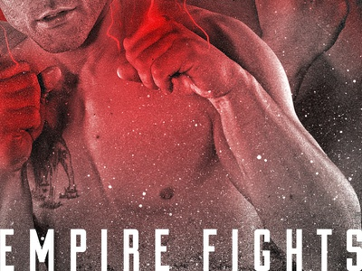 Empire Fights spots athletics boxing martial arts vintage texture red poster fight mma