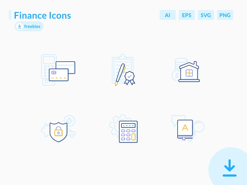 Finance Icons – Freebies illustration agreement freebie free vector health mortgage dictionary calculator medical security credit card cash money loan bank banking icons icon finance