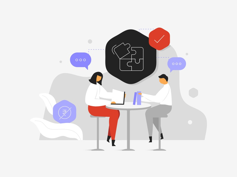 Studysid Illustration - 4 classes help lecture coaching exams students counselling notes books study concept characters minimal flat clean cute vector graphic design illustration