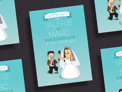 Valerie + Marc's Wedding Card2