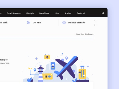 Finance Illustration - Travel and Airline