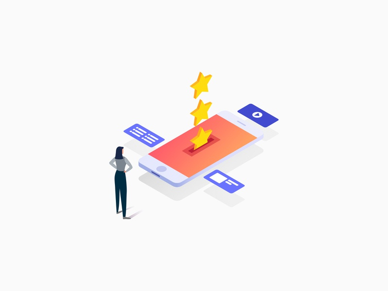 Illustration for Media.net - Set Up Your Ads values gradient marketing revenue stars isometric clean design graphic vector tablet phone mobile setup form ads concept ui illustrations illustration