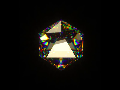 Experiement: Glass Diamond Shader blender cinema4d brand loop 3d animation 3d illustration visual branding