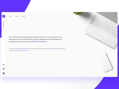 Personal Website 2018: Landing Page