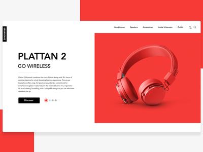 DailyUI #003: Landing Page web design black urbanears landing speaker headphones red ux uiux ui dailyui daily