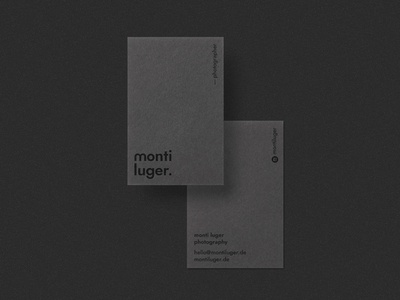 Monti Luger - Branding: Business Cards Mockup
