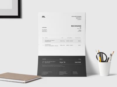 Monti Luger - Branding: Invoice