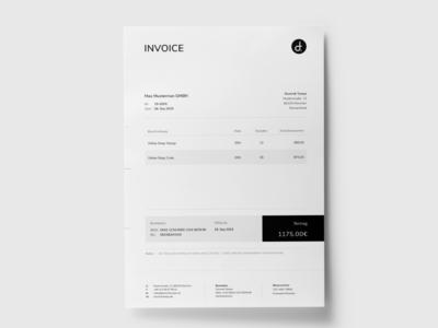 Personal Invoice Design