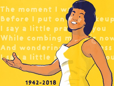 Aretha Tribute alabama graphic design editorial illustration illustration