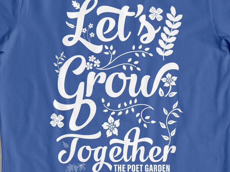 Poet Garden typogaphy apparel design illustration