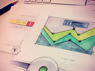 UI sketching ui ui sketch chart sketching bright drawing tabs desk
