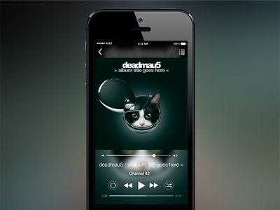 iOS Music Player ios music player mobile
