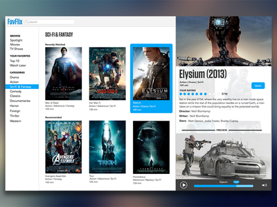 Movie App Prototype ui flat app movie application user interface