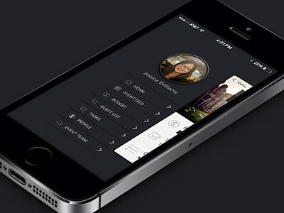 Event Planner Menu menu navigation ios