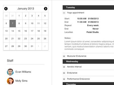 Calendar Agenda calendar ux ui agenda