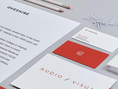 Cheshire Branding Identity Mockup II collateral logo icon design agency branding agency branding