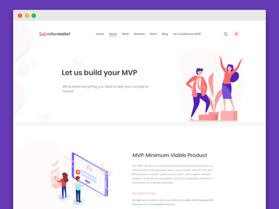 New mm7 site redesign website brand and identity product design branding illustration web application development visual design ux design branding agency design agency ux design landing page