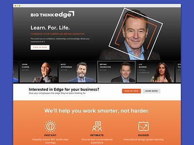 Bigthink Edge Lp web landing page visual design ux branding branding agency design agency design