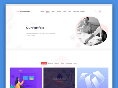 mm7 portfolio page idea 💡 website app ui product design web brand and identity branding application development branding agency landing page visual design ux design design agency