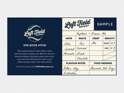 Leftfield Label Sample