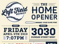 Left Field Launch Invite