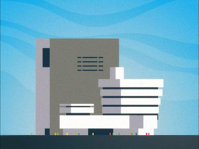 Guggenheim building design modernism nyc icon frank lloyd wright new york graphic illustration architecture museum guggenheim