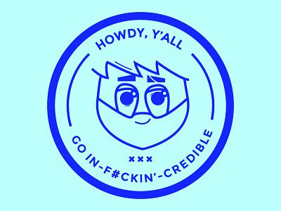 howdy, y'all! minimal simple icon illustrator outline