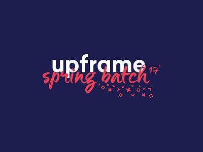 upframe spring batch 17' branding spring logo upframe