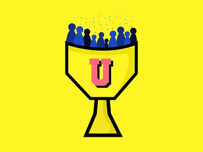 Upframe Trophy icon shadow yellow startup programme trophy illustration upframe