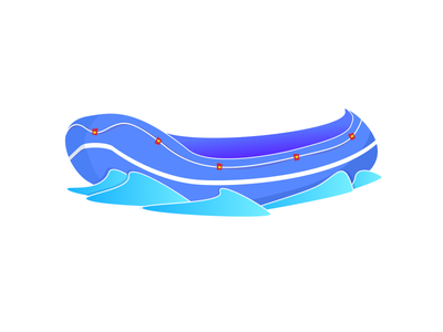 Boat rafting sail sea illustration water boat