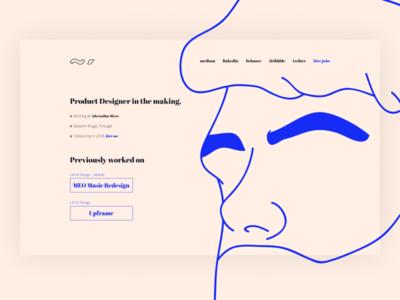 juauz.com ~ João Araújo blue typography portfolio design personal brand joão araújo brand portfolio face illustration illustration