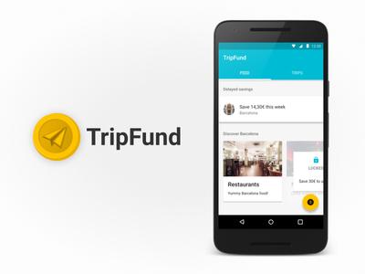 TripFund - helping friends save money together 💸 money design process ux design ui design mobile app tripfund