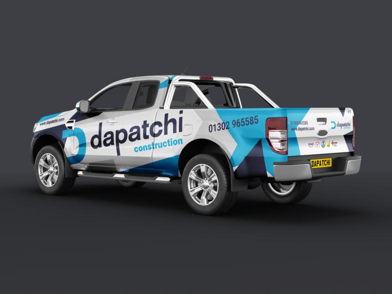Dapatchi Construction - Truck Signwriting branding writing sign ranger ford truck