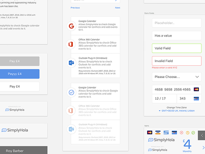SimplyHola - Assets brand logo button form interface ux ui app design sketch assets