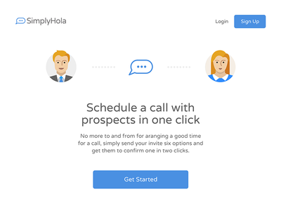 Landing Page WIP saas email communication white space typography type avatar landing page