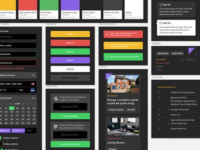 Dark UI branding web app app styleguide ux ui dark